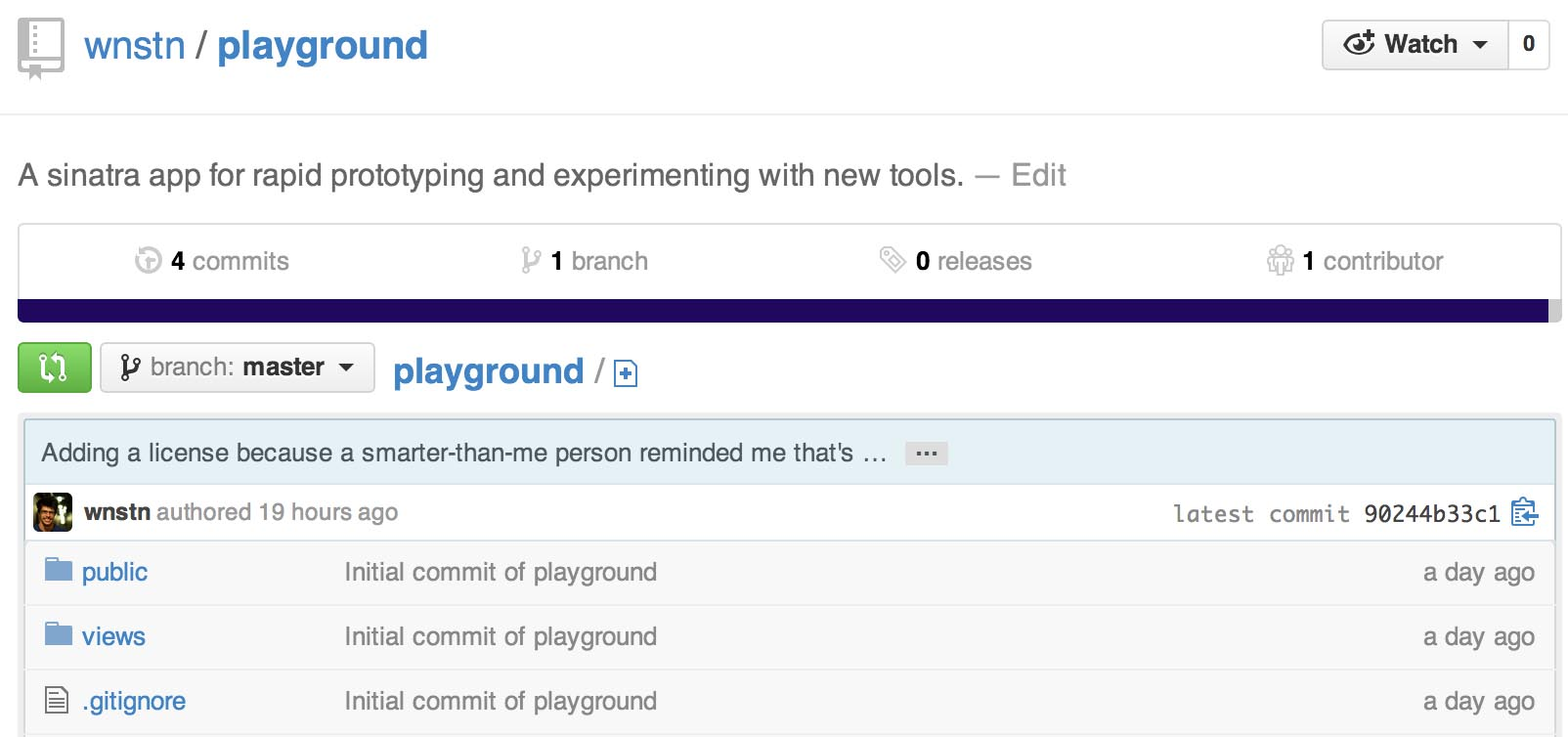 playground screenshot from github